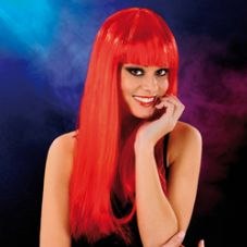 Cabaret Wig Fiery Red Long